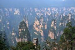 Vista dell'allerta mentre facendo un'escursione intorno all'area scenica di Wulingyuan Che a Fotografia Stock Libera da Diritti