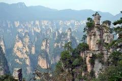 Vista dell'allerta mentre facendo un'escursione intorno all'area scenica di Wulingyuan Che a Fotografia Stock