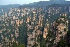 Vista dell'allerta mentre facendo un'escursione intorno all'area scenica di Wulingyuan Che a Immagini Stock Libere da Diritti