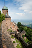 Vista dell'Alsazia dal castello di Haut Koenigsbourg Fotografia Stock Libera da Diritti