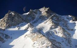 Vista dell'alta montagna Fotografia Stock Libera da Diritti