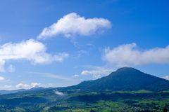 Vista dell'alta montagna da Khao Kho, Phetchabun, Tailandia Fotografia Stock Libera da Diritti