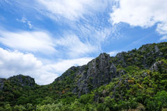 Vista dell'alta montagna in Tailandia Immagini Stock Libere da Diritti