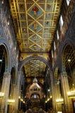 Vista dell'altare della cattedrale a Pecs Fotografia Stock Libera da Diritti