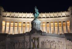 Vista dell'altare della patria alla notte Immagine Stock Libera da Diritti