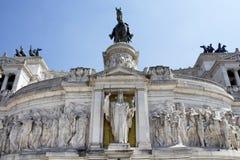 Vista dell'altare della patria in piazza Venezia Fotografia Stock