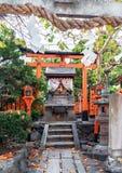 Vista dell'altare e della scultura, Kyoto, Giappone Copi lo spazio per te Fotografia Stock Libera da Diritti