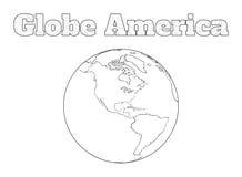 Vista dell'America del globo Fotografia Stock