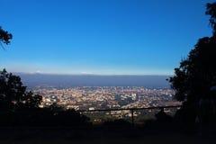 Vista dell'angolo alto della città di Chiang Mai della Tailandia Fotografia Stock
