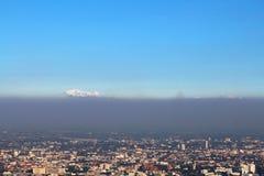 Vista dell'angolo alto della città di Chiang Mai della Tailandia Immagini Stock Libere da Diritti