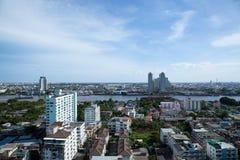 Vista dell'angolo alto di Bangkok. Immagini Stock Libere da Diritti