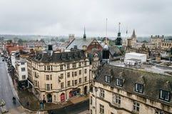 Vista dell'angolo alto di Oxford Fotografia Stock Libera da Diritti