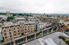 Vista dell'angolo alto di Oxford Fotografie Stock Libere da Diritti