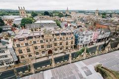 Vista dell'angolo alto di Oxford Immagine Stock