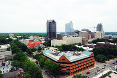 Vista dell'angolo alto di Raleigh del centro Fotografie Stock