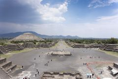 Vista dell'angolo alto di un sito archeologico, Fotografie Stock Libere da Diritti