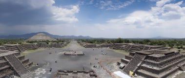 Vista dell'angolo alto di un sito archeologico, Fotografia Stock