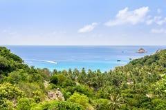 Vista dell'angolo alto a Koh Tao immagini stock