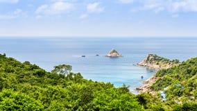Vista dell'angolo alto a Koh Tao immagini stock libere da diritti
