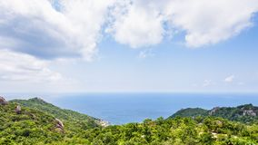 Vista dell'angolo alto a Koh Tao fotografie stock