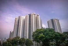 Vista dell'appartamento residenziale pubblico dell'alloggio in Bukit Panjang Fotografia Stock Libera da Diritti