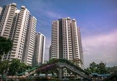 Vista dell'appartamento residenziale pubblico dell'alloggio in Bukit Panjang Immagine Stock