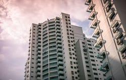 Vista dell'appartamento residenziale pubblico dell'alloggio in Bukit Panjang Immagini Stock Libere da Diritti