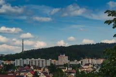 Vista dell'area municipale di Paseky fotografie stock libere da diritti