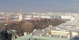 Vista dell'argine la città Sankt-Peterburg nel giorno di estate Fotografia Stock Libera da Diritti