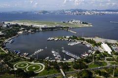 Vista dell'aria di Rio de Janeiro Immagine Stock