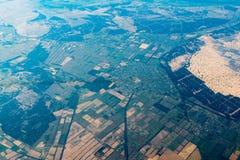 Vista dell'aria su paesaggio con a forma di geometrico Fotografia Stock