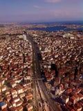 Vista dell'aria sulla strada principale Immagine Stock Libera da Diritti