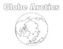 Vista dell'Artide del globo Fotografie Stock