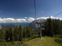Vista dell'ascensore dell'Austria Tauplitz Fotografie Stock
