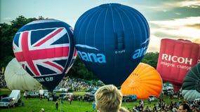 Vista dell'ascesa dei palloni Fotografia Stock Libera da Diritti