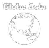 Vista dell'Asia del globo Fotografie Stock Libere da Diritti