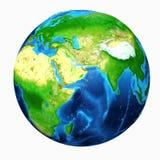 Vista dell'Asia della terra illustrazione di stock
