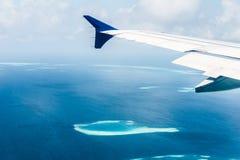 Vista dell'atollo delle Maldive Immagini Stock Libere da Diritti