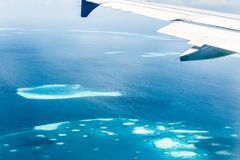 Vista dell'atollo delle Maldive Immagine Stock
