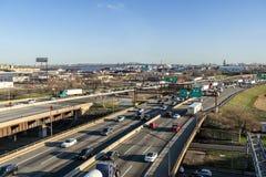 Vista dell'autostrada di NJ Immagini Stock Libere da Diritti