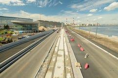 Vista dell'autostrada senza pedaggio dalla cima Immagine Stock