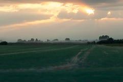 Vista dell'azienda agricola Immagine Stock Libera da Diritti