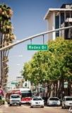 Vista dell'azionamento del rodeo a Los Angeles Immagini Stock Libere da Diritti