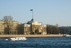 Vista dell'edificio di Ministero della marina Fotografia Stock Libera da Diritti
