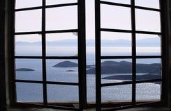 Vista dell'egeo Fotografia Stock Libera da Diritti