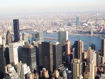 Vista dell'Empire State Building Immagini Stock Libere da Diritti