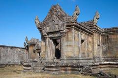 Vista dell'entrata del sud di Gopura III al tempio del XI secolo di Preah Vihear Immagine Stock Libera da Diritti