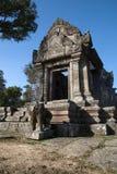 Vista dell'entrata orientale a Gopura IV al complesso del XI secolo del tempio di Preah Vihear Immagini Stock