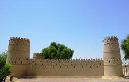 Vista dell'entrata principale del museo nazionale di Al Ain nei UAE Immagine Stock