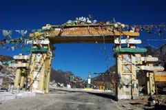 Vista dell'entrata a Tawang-Arunachal Pradesh. Immagini Stock